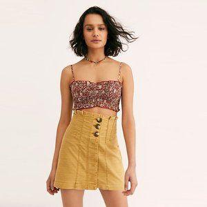FREE PEOPLE Every Mustard High Waisted Mini Skirt